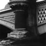 Blackfriars railway bridge. Sept. 1987