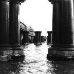 Blackfriars railway bridge. Sept. 1987