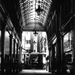View through Leadenhall Market. 1987