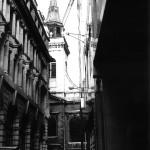 St Edmund the King through side street. 1987